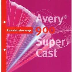 Avery Super Cast 900 - wzornik folii samoprzylepnych
